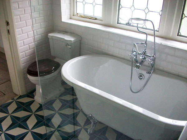 Part of a bathroom suite installed for a customer in Halifax